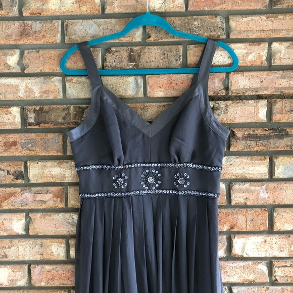 Coldwater Creek Dresses Nwt Slate Blue Gray Evening Gown Poshmark